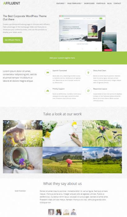Affluent - CPOThemes Corporate WordPress Theme