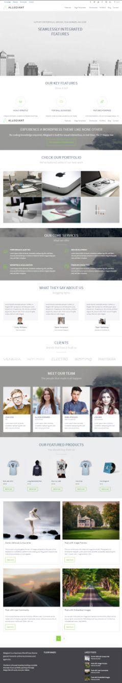 CPOThemes Allegiant Demo – Multipurpose Business WordPress Theme