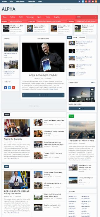 Alpha WPZOOM - Best Magazine WordPress Theme
