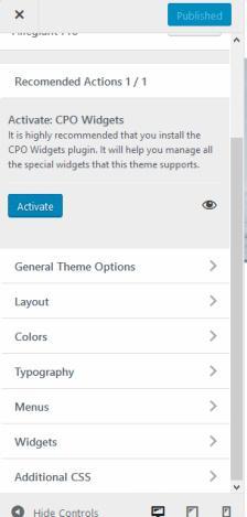Customizer Options - CPO Affluent