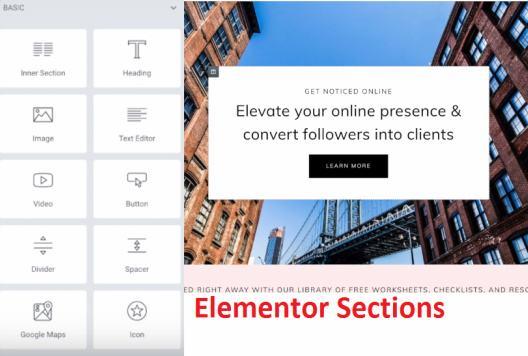 Elementor Builder Section - BluChic