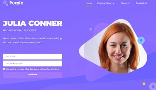 Featured Area Homepage - Purple Theme