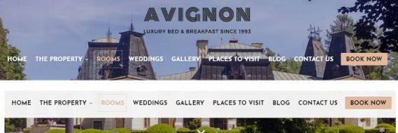 Floating Header Menu - Avignon