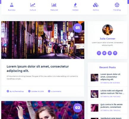 Home Widets for Featrured Categories - Feminine Theme