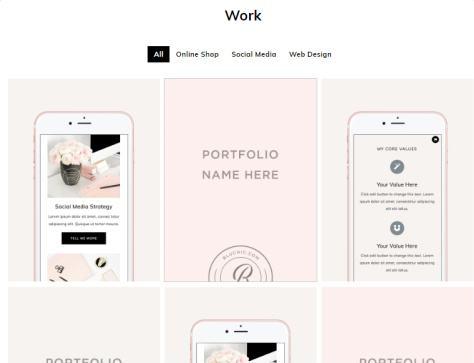 Portfolio Listing Page - ChicServe for Female Business Websites