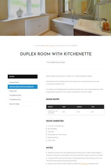 Rooms Single Listing Page - HermesThemes