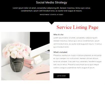 Service Listing Page - ChicServe Mom Entrepreneur Theme
