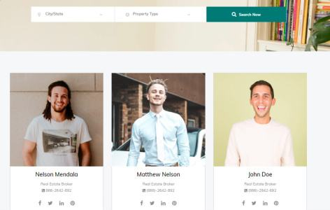Agent Profile Page - Real Estate Broker Theme