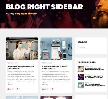 Blog Right Sidebar - Event Promotion