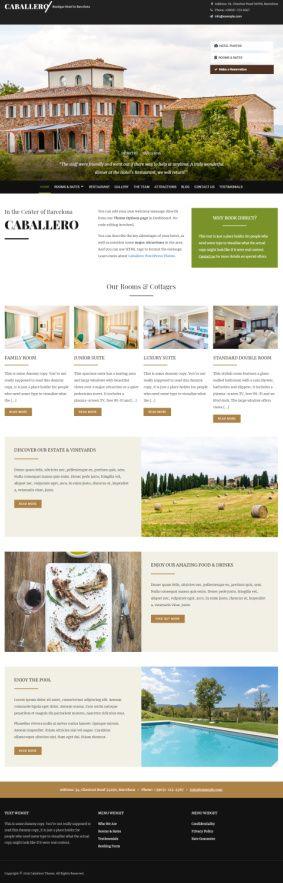 Caballero HermesThemes – Best Hotel Booking Theme for WordPress