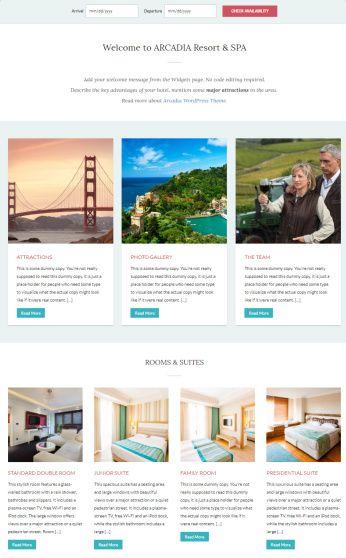 Content Widgets - Arcadia Homepage