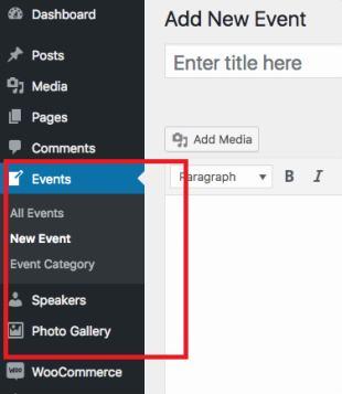 Custom Event Post Types - Eventco
