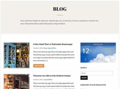Hotel or Travel Blog - Hermes Themes