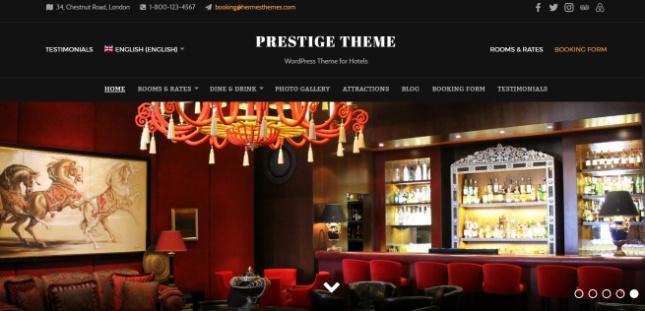 Prestige Header and Slideshow