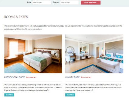 Rooms Rates Listing Page