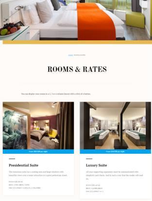 Rooms Rates Showcase Page - Aurora Theme
