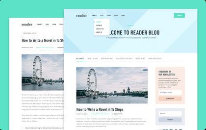 2 Blog Layouts - Reader Theme