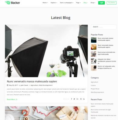 Backer Charity Blog