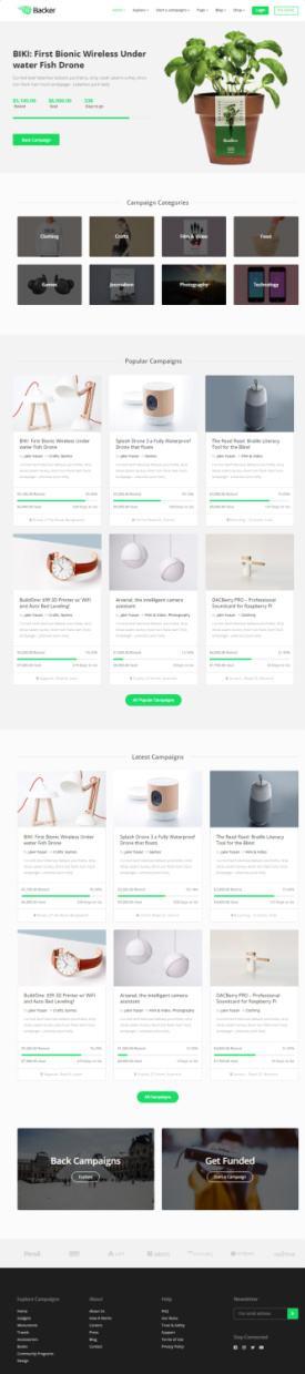 Backer Themeum - Best Crowdfunding Theme for WordPress