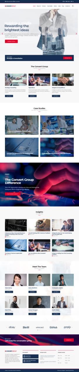 CSSIgniter Convert Demo : Multi-Purpose Business WordPress Theme