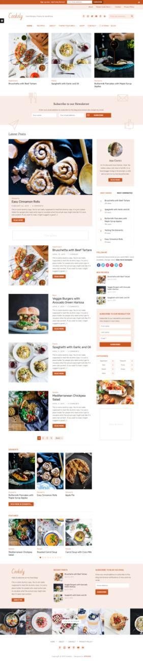 WPZOOM Cookely Demo – Food Recipe Blogging WP Theme