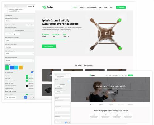 Customization - Backer Options