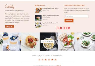 Cookely Footer - WPZOOM Food Blog Theme