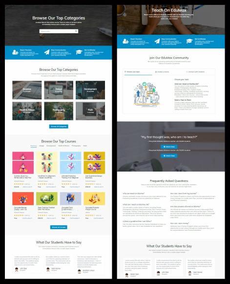 Home Options - LMS WordPress Theme
