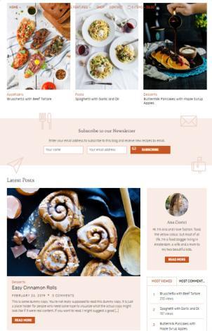 Homepage Widgets - Cookley