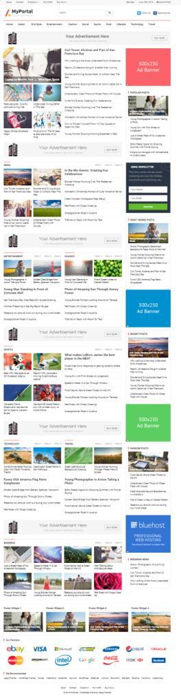 MyPortal Demo HappyThemes – Responsive Magazine WordPress Theme