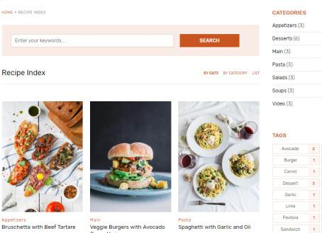 Recipe Index for Food Bloggers - Cookely