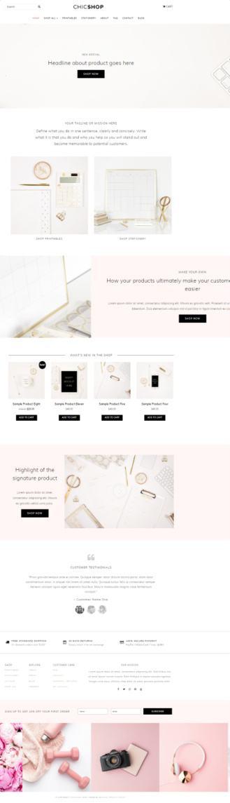 ChicShop BluChic – eCommerce Shop WordPress Theme for Women