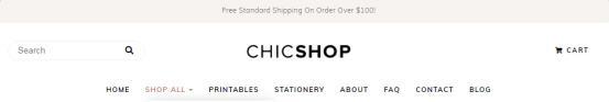 Header - ChicShop