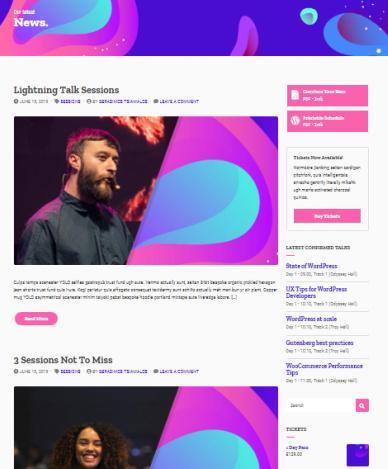 News Blog Page - CSSIgniter Event Blogging