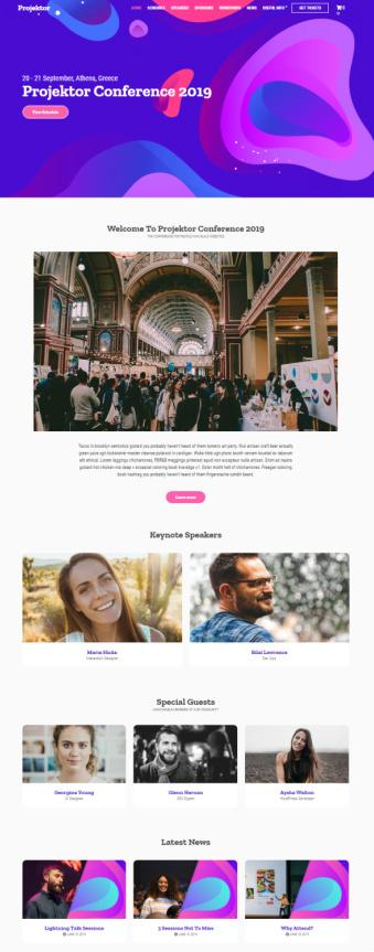 Projektor Demo – CSSIgniter Event Promotion WordPress Theme