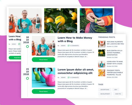 Blog Layouts - Fitness Trainers Theme