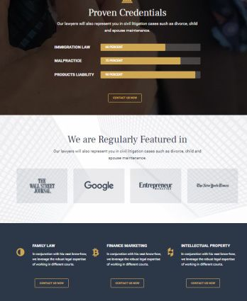 About Us Page Options - Lawyer