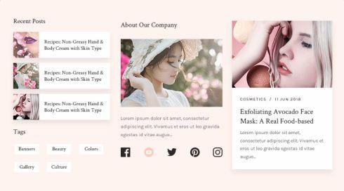 Best Widgets Collectoon - Beauty WordPress Theme