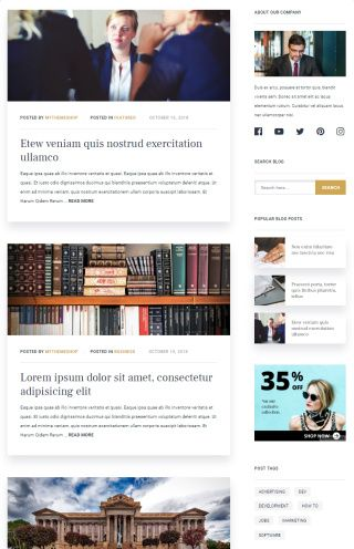 Blog Options - Mythemeshop Legal Business Theme