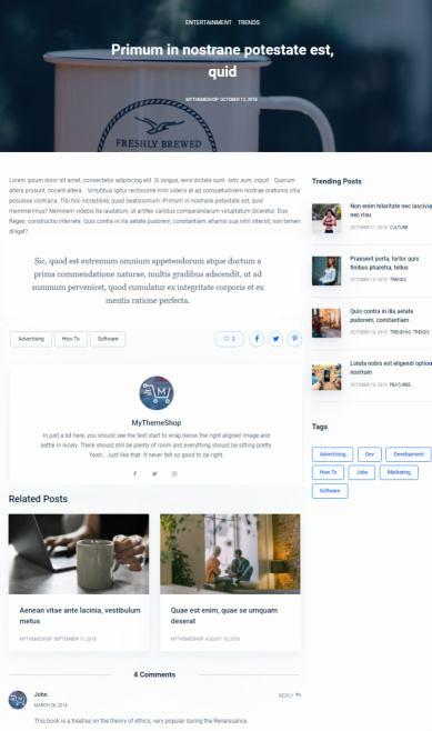 Blog Post Preview - Blocks WordPress Theme