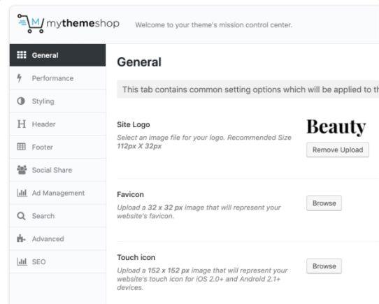 Easy Options - Beauty WP Blog Template