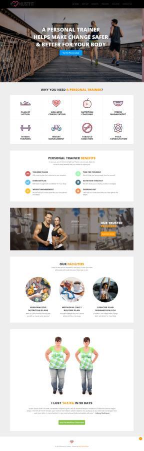 JustFit MyThemeShop - Premium Fitness Blogging WordPress Theme