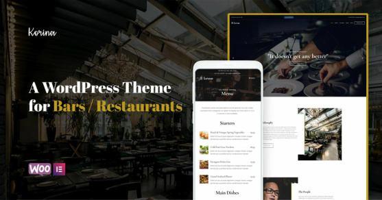 Korina CSSIgniter – WordPress Restaurant & Cafe Themes