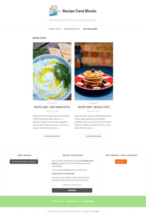 Recipe Card Blocks Review Demo – Best Recipe Cards Plugin for WordPress