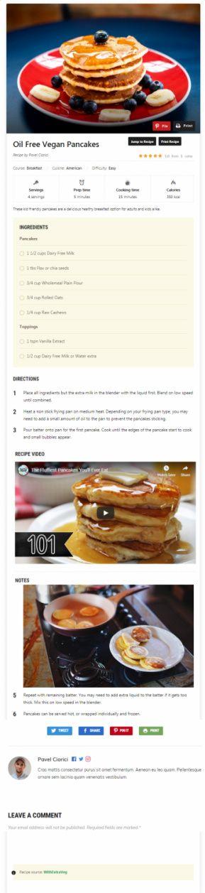 Recipe Card Blocks PRO WPZOOM – Best Recipe Plugin For WordPress