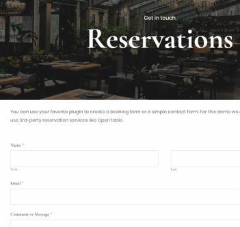 Reservation Page - Korina