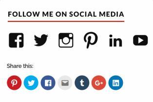 Social Buttons - JustFit MyThemeShop