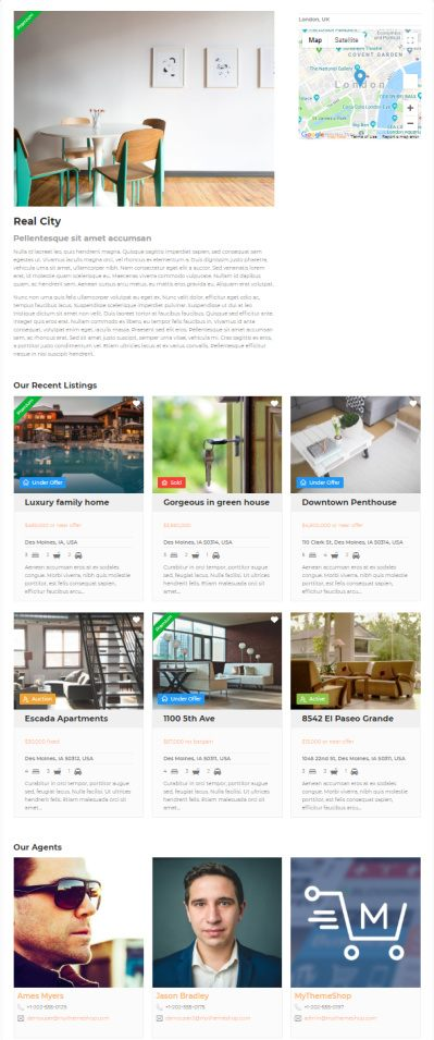 Agency and Agents Page - WP Real Estate Pro