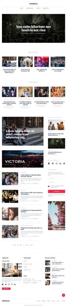 DailyBuzz MyThemeShop – Best Lifestyle Blog/Magazine Theme