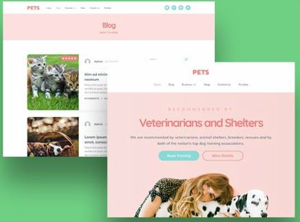 Header Layouts - Pet Care Clinic Theme